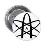 Atheist Atom 2 Inch Round Button