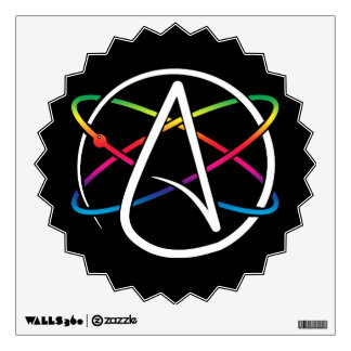 Atheist Atom Rainbow Wall Decal