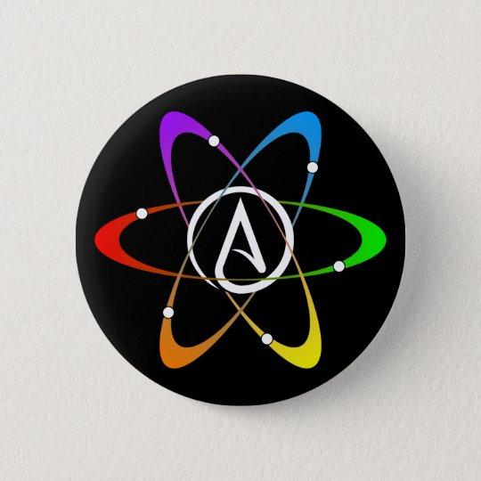 Atheist Atom Symbol Button Zazzle