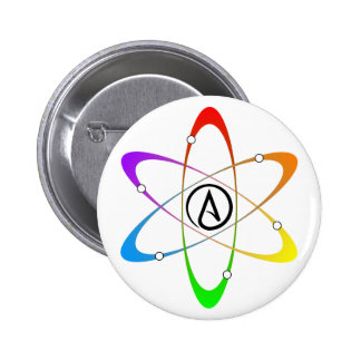 Atheist Atom Symbol Button