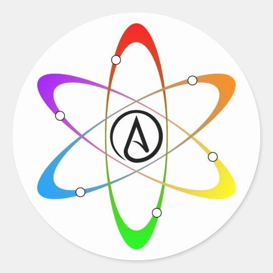 Atheist Atom Symbol Classic Round Sticker Zazzle