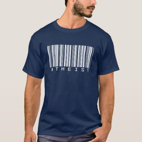 Atheist Barcode T_Shirt for Dark Colors