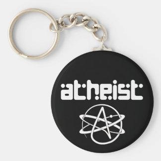 Atheist Basic Round Button Keychain