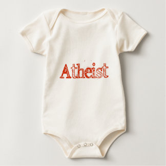 Atheist Bright Red Baby Creeper