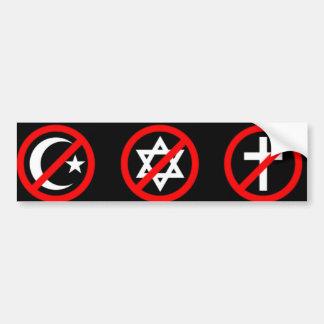Atheist Bumper sticker Car Bumper Sticker