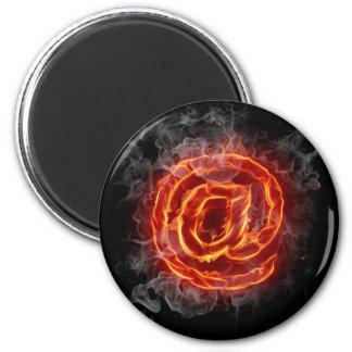 Atheist - burning A @ 2 Inch Round Magnet