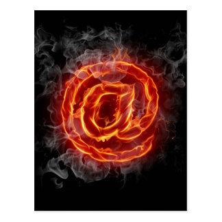 Atheist - burning A @ Postcard