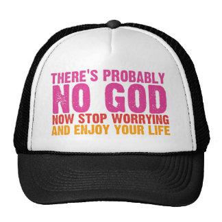 Atheist Bus Campaign (Vertical) Trucker Hats