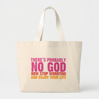 Atheist Bus Campaign (Vertical) Large Tote Bag