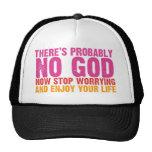 Atheist Bus Campaign (Vertical) Trucker Hat