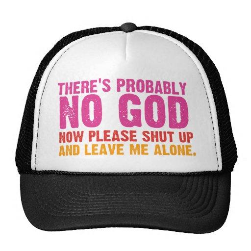 Atheist Bus Campaign (Vertical Variation) Trucker Hat