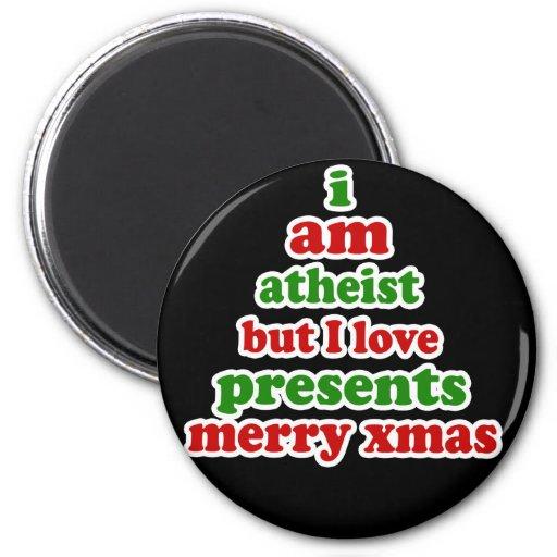 Atheist Christmas 2 Inch Round Magnet