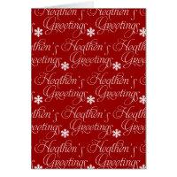 Atheist Christmas Card - Heathen's Greetings!