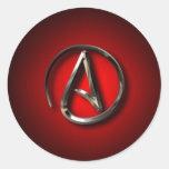 atheist classic round sticker