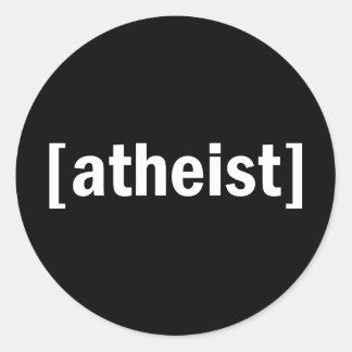 [atheist] classic round sticker