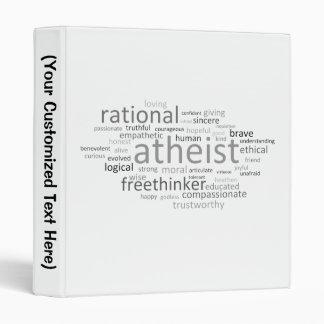 Atheist Cloud 3 Ring Binder
