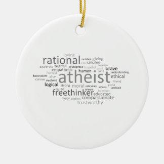 Atheist Cloud Ceramic Ornament