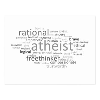 Atheist Cloud Postcard