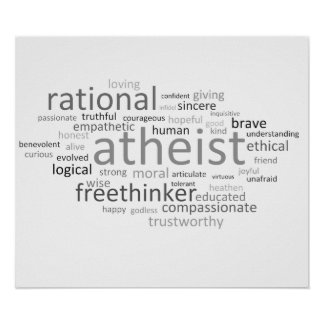 Atheist Cloud Posters