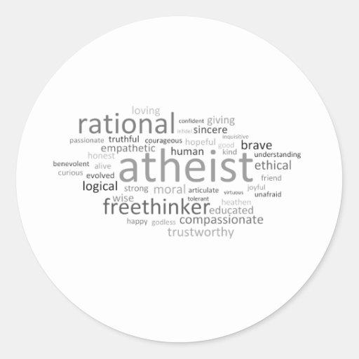 Atheist Cloud Round Sticker