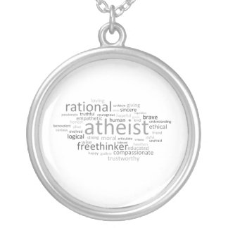 Atheist Cloud Silver Plated Necklace