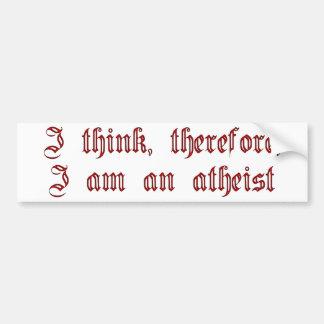 Atheist Cogito Bumper Sticker