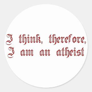 Atheist Cogito Classic Round Sticker