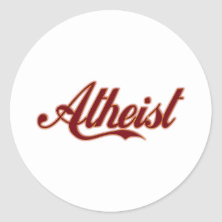 Atheist Cola Style Logo Classic Round Sticker