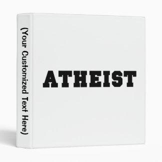 Atheist Collegiate Logo 3 Ring Binder