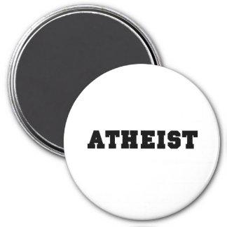 Atheist Collegiate Logo 3 Inch Round Magnet