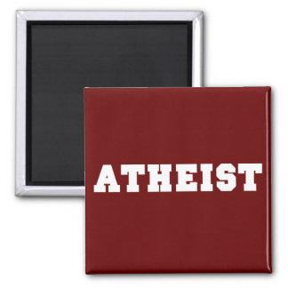 Atheist Collegiate Logo 2 Inch Square Magnet