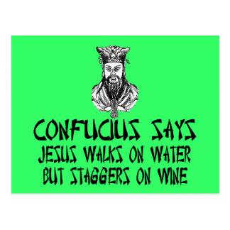 Atheist Confucius Postcard