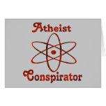 Atheist Conspirator Greeting Cards