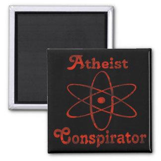 Atheist Conspirator 2 Inch Square Magnet