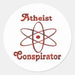Atheist Conspirator Round Sticker