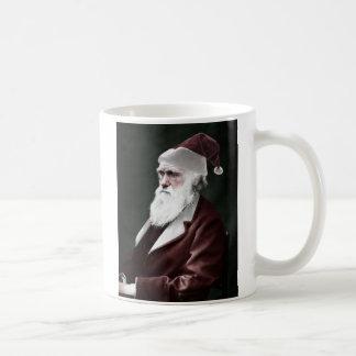 Atheist - Darwin Christmas as Santa Claus Coffee Mug