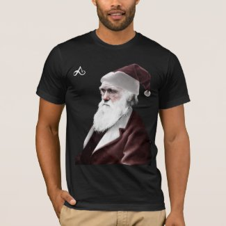 Atheist - Darwin Christmas as Santa Claus T-Shirt