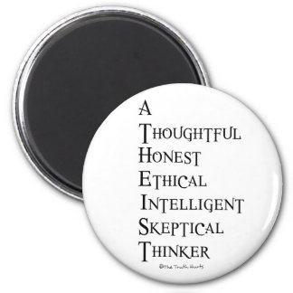 Atheist Defined 2 Inch Round Magnet