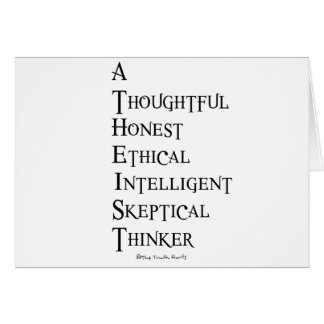 Atheist Defined Greeting Card