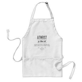 Atheist Definition Vintage Typography Design Adult Apron