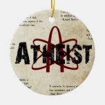 Atheist Double-Sided Ceramic Round Christmas Ornament