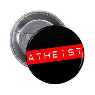 Atheist Dymo Label Pinback Buttons