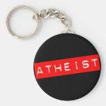 Atheist Dymo Label Keychain
