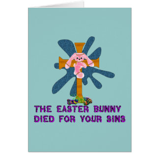 Atheist Easter Bunny Card