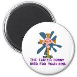 Atheist Easter Bunny Fridge Magnets