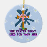 Atheist Easter Bunny Ornament