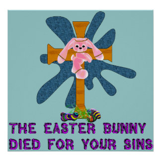 Atheist Easter Bunny Print