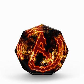 Atheist Fire Symbol Acrylic Award