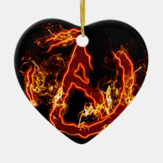 Atheist Fire Symbol Ceramic Ornament