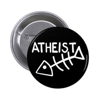 Atheist Fish Button